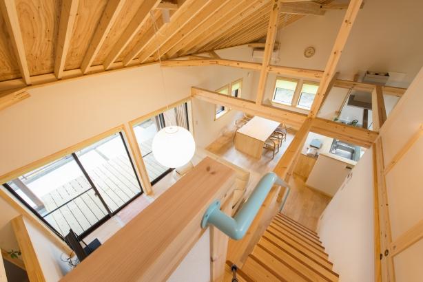 茨城県石岡市吹抜け大空間でもエアコン1台で暖かい住まい