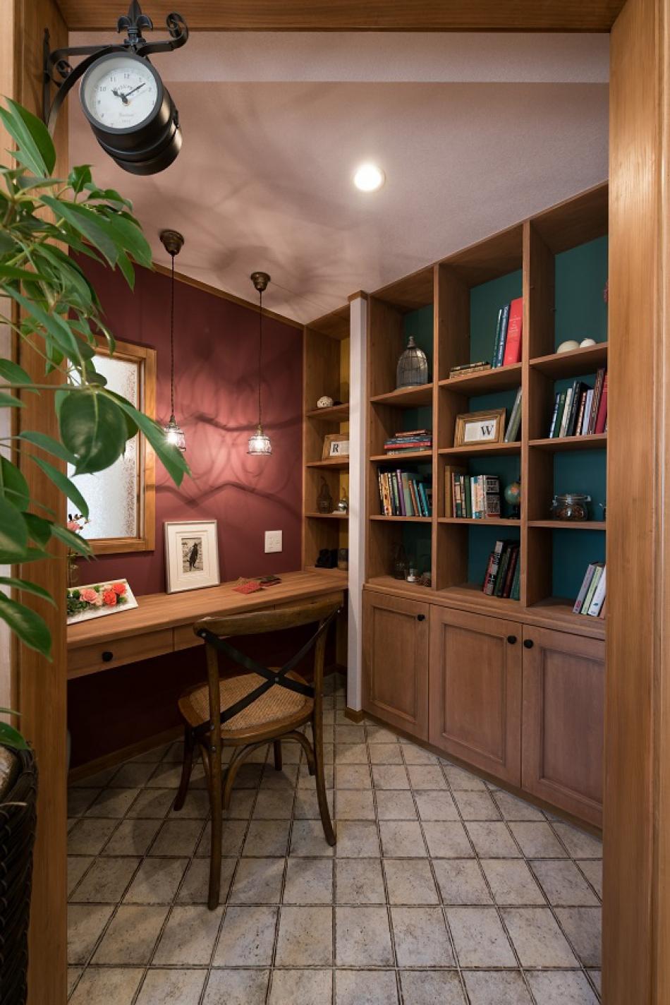 リビング(1F)脇の書斎スペース